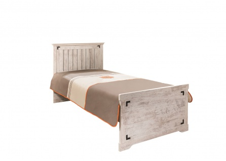 Bett 90x200 cm Woodlife in weiss im Landhausstil