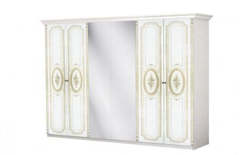 Kleiderschrank Florenz 6türig in beige creme für Schlafzimmer