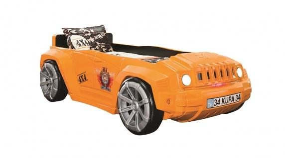 Autobett Offroad Hamer New orange für Kinderzimmer Bett