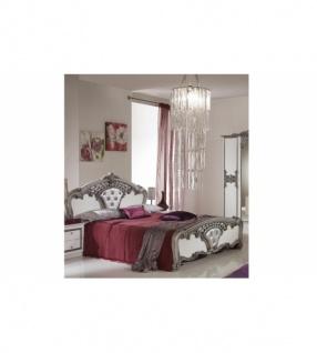 Schlafzimmer Elisa Weiss Silber Mit Kleiderschrank 6 Türig Ita
