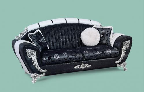 Simple Couch Mirac Er Schwarz Weiss Klassik Barockstil Orient With Couch  Schwarz Wei With Sofa Weiss Schwarz With Schwarz Wei