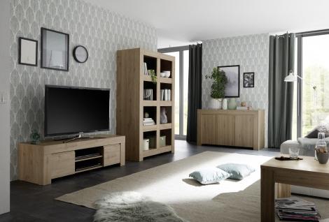 Wohnzimmer Set Fren in eiche TV-Schrank Element
