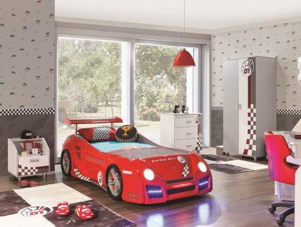 Autobett Turbo GT1 rot mit LED für Kinderzimmer Bett
