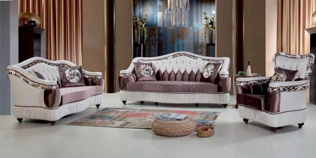 Sofa Couch Set Asya 3+2+1 mit Schlaffunktion