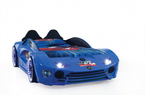 Autobett Turbo Drift Vollfunktion in Blau inkl Lattenrost LED USB und Sound
