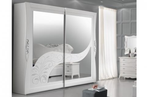 Schiebetürenschrank 2trg Gisell in weiss Edel Luxus Schlafzimmer