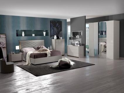 Schlafzimmer Set Valencia modern 160x200 cm / mit Schrank 4 t?rig / mit Kommode und Spiegel