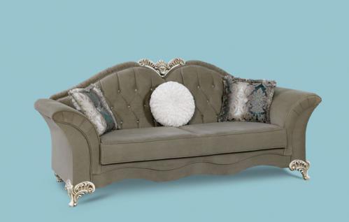 Couch Jüpiter 3er grau Klassik Barockstil Orient