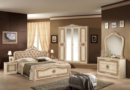 Hervorragend Schlafzimmer Lucy In Beige Creme Klassisch Braun Designer Italie