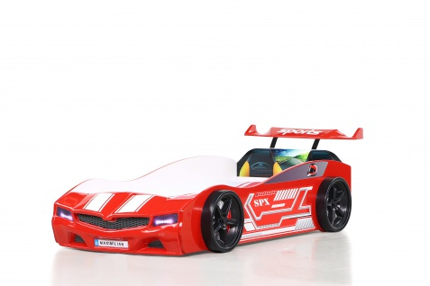 Kinder Autobett Bumer SPX Rot mit LED Scheinwerfer