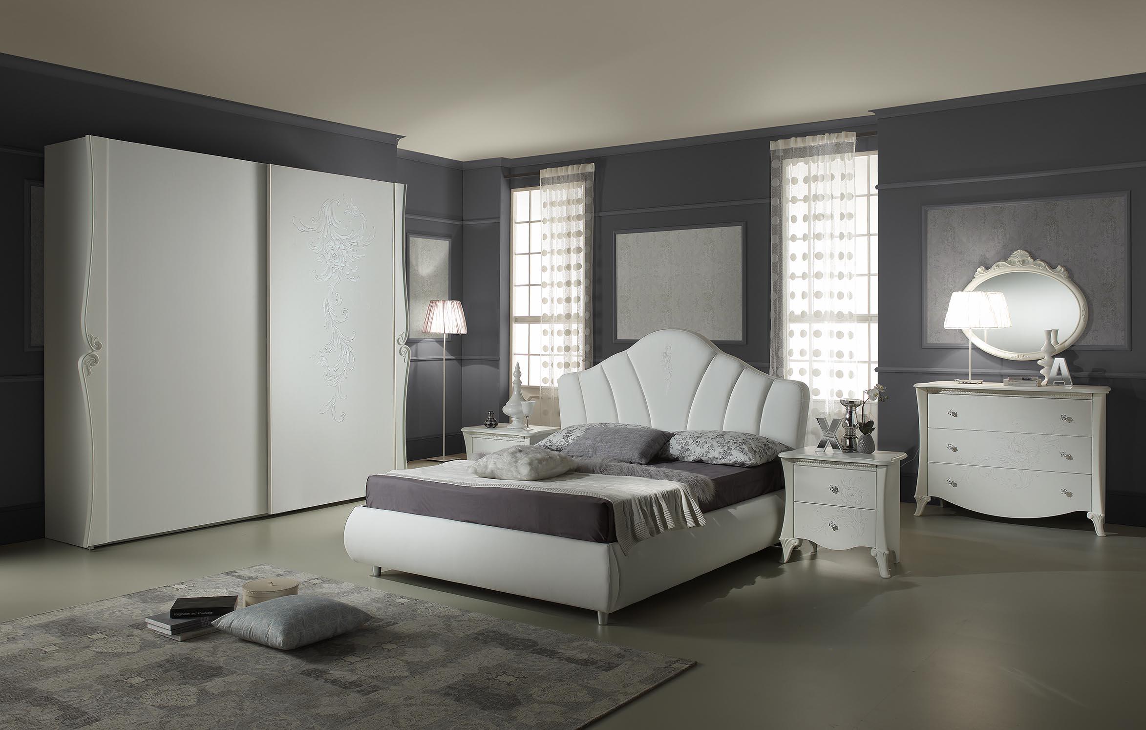 schlafzimmer doria in weiss elegant moderne mobel 1