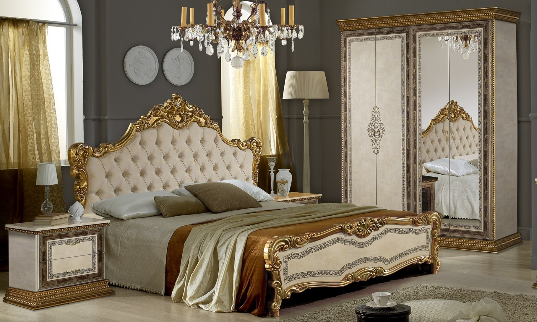 Schlafzimmer Jenny in Beige Gold im italienische Design - Kaufen bei ...
