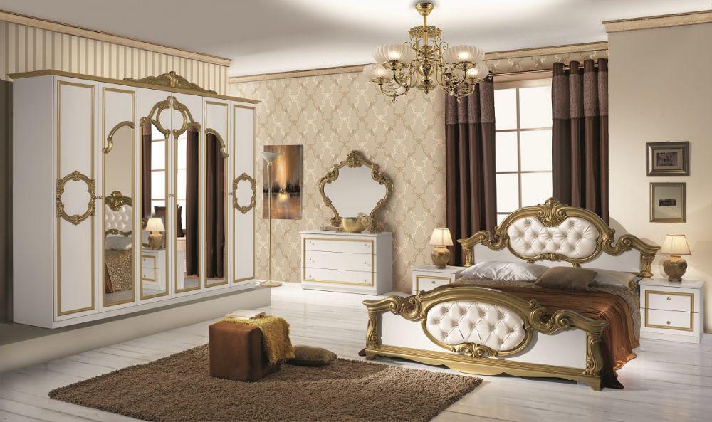 Schlafzimmer barocco in schwarz gold klassik barock for Schwarz gold schlafzimmer