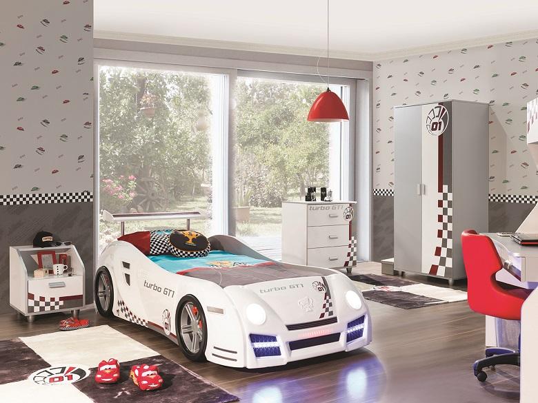 Autobett Kinderzimmer in weiss GT1 Autobettzimmer - Kaufen bei KAPA ...