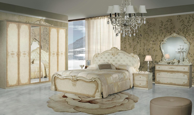 Schlafzimmer Toulouse in Beige Gold Klassisch Design - Kaufen bei ...