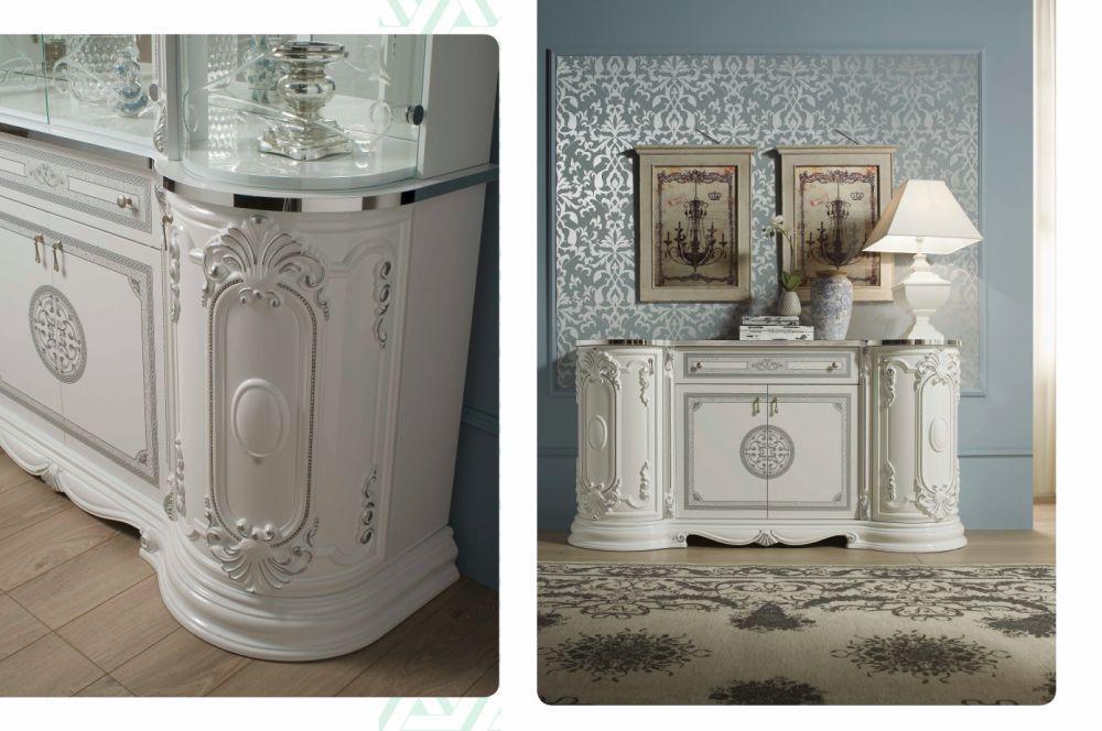 buffetschrank kommode great weiss silber italienisch. Black Bedroom Furniture Sets. Home Design Ideas