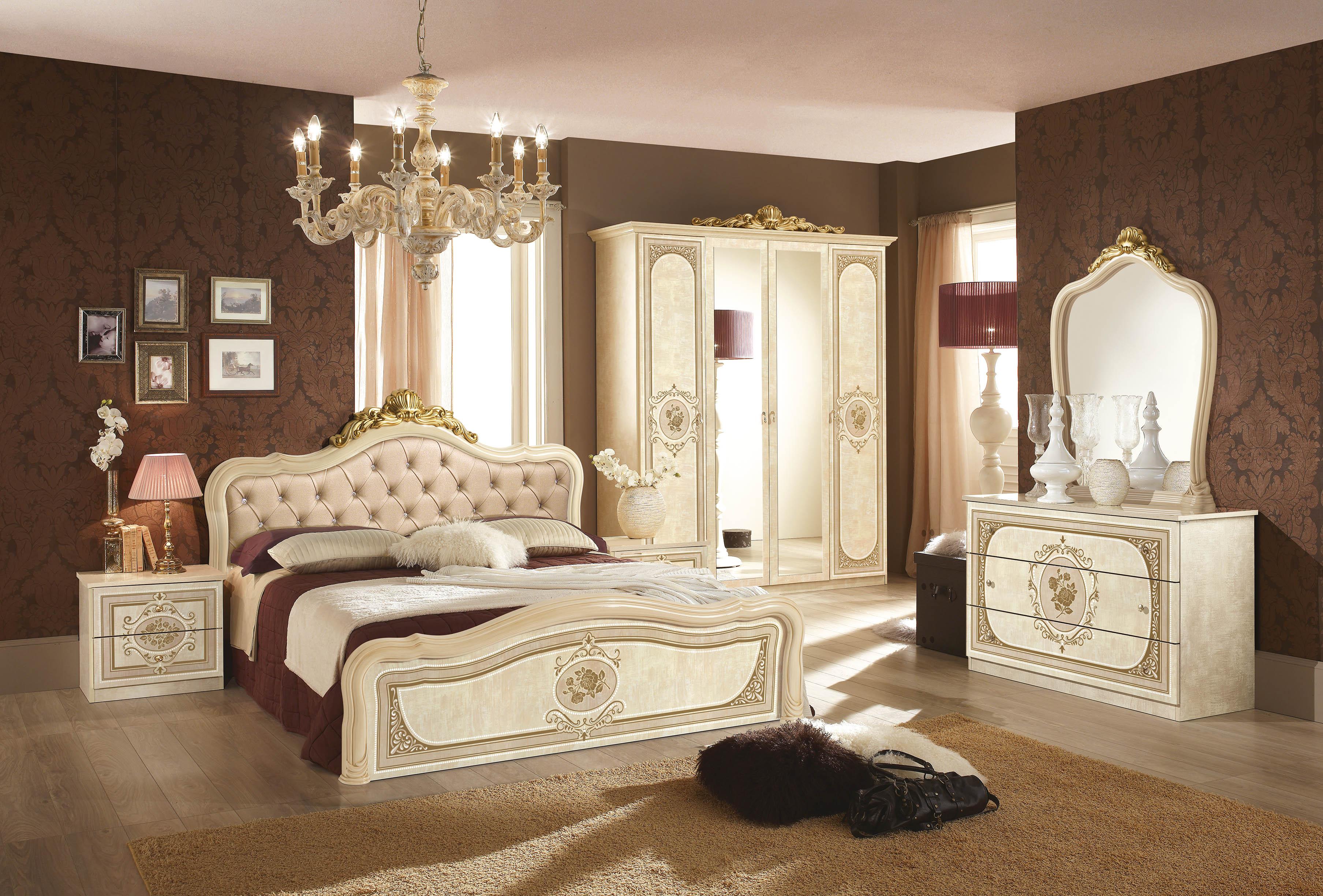 Schlafzimmer Alice In Creme Beige Barock Polsterung 180x200cm 1 ...
