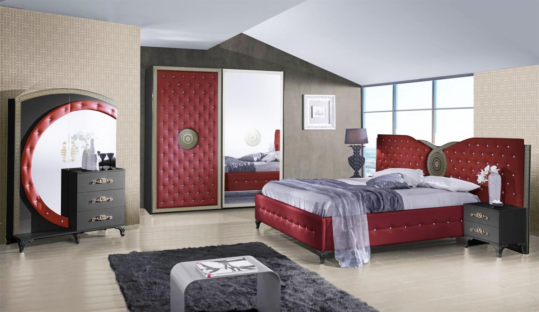 Charmant Schlafzimmer Anatalia In Rot Schwarz Luxus Design 1 ...