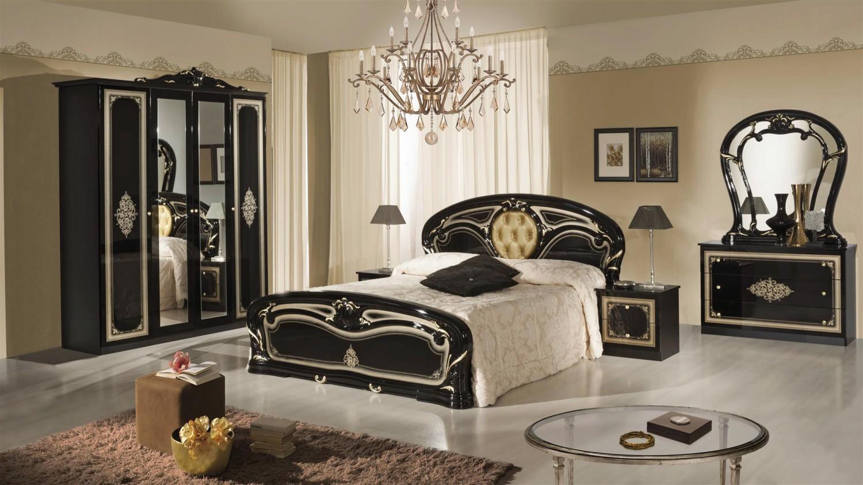 Schlafzimmer Christina in Schwarz Gold Klassisch Design - Kaufen bei ...