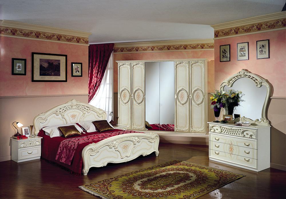 Schlafzimmer Rozza beige creme Italien Klassik Barock Design ...