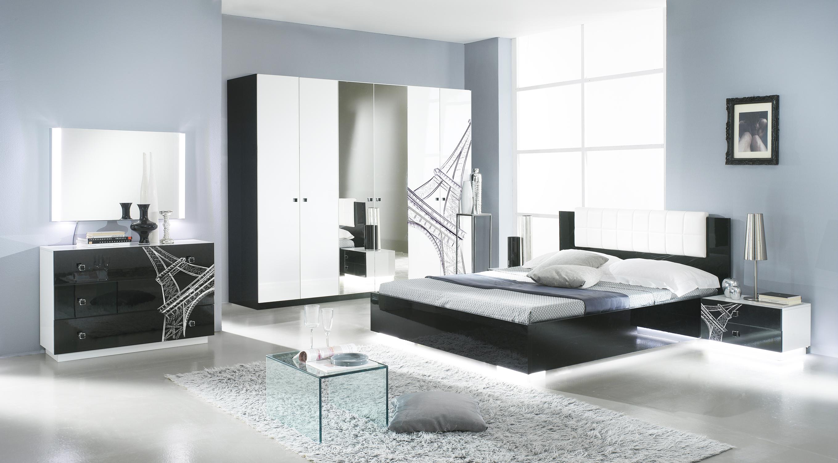 Schlafzimmer VIVIENNE in Schwarz Weiß Modern Design - Kaufen bei ...