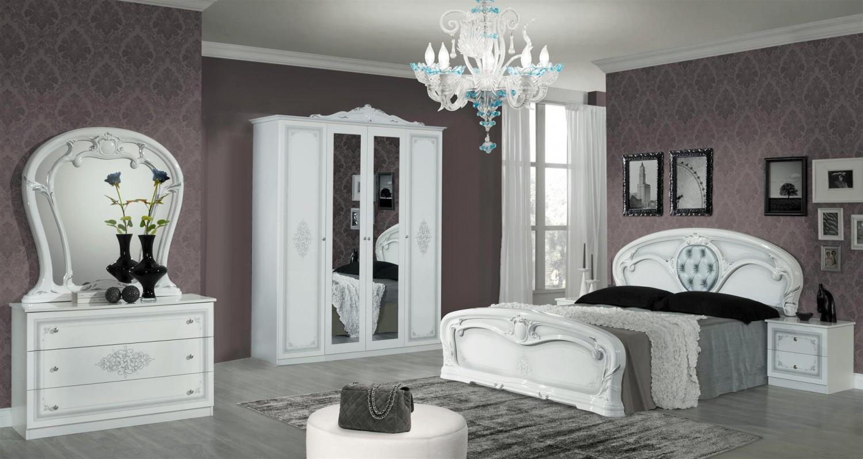 Schlafzimmer Christina in Weiß 6 teilig Klassisch Design - Kaufen ...