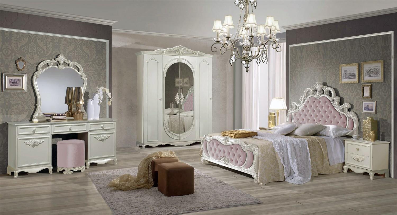 Schlafzimmer Atene in Creme Rosa im Königlichen Stil - Kaufen bei ...