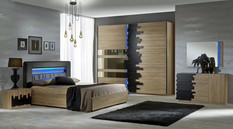 Schlafzimmer Set Mozart in Buche Optik 6 teilig - Kaufen bei KAPA Möbel