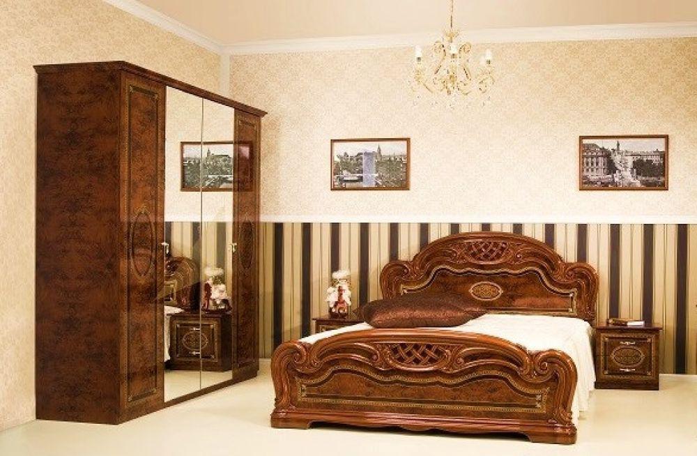Schlafzimmer LANA walnuss klassisch Barock Stilmöbel 4tlg - Kaufen ...