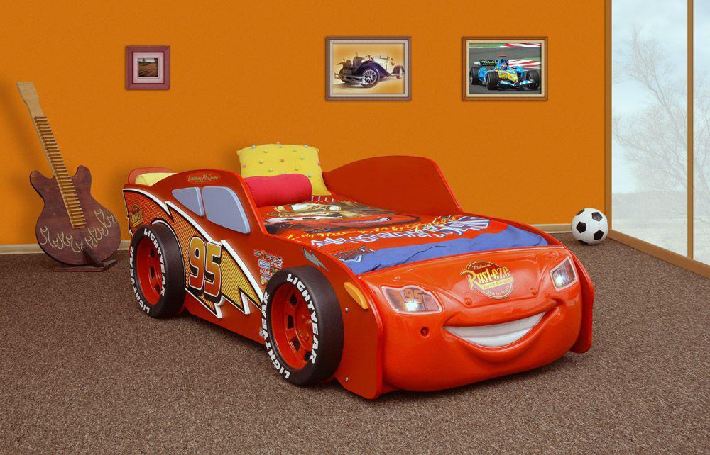 Bett Autobett Cars Mc Queen Kinderbett Cars rot mit LED - Kaufen bei ...