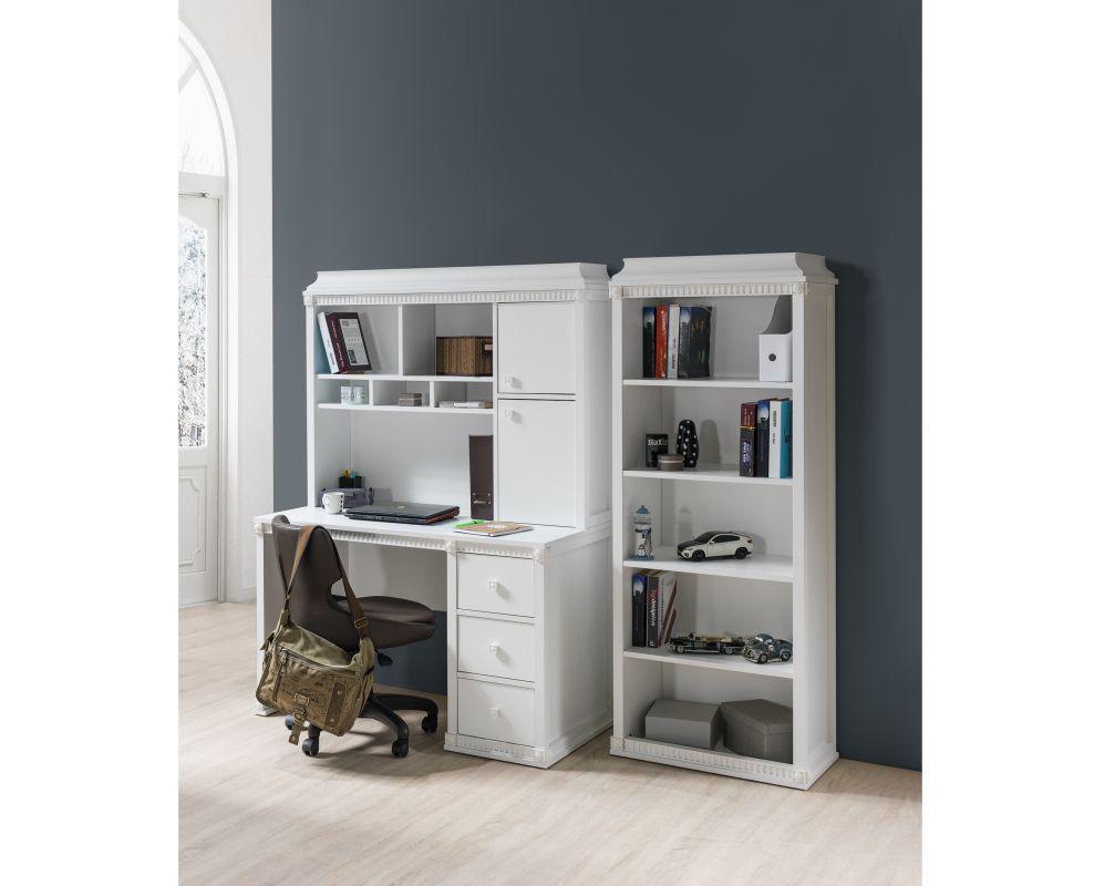 schreibtisch hazeran mit aufsatz landhausstil weiss kinder. Black Bedroom Furniture Sets. Home Design Ideas