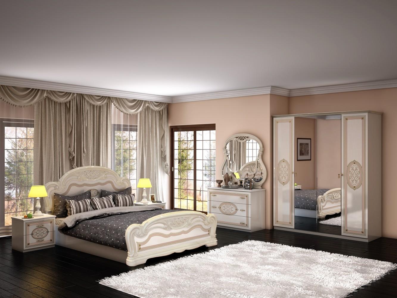 Schlafzimmer Lana In Beige Creme Barock Klassik Design 1 ...