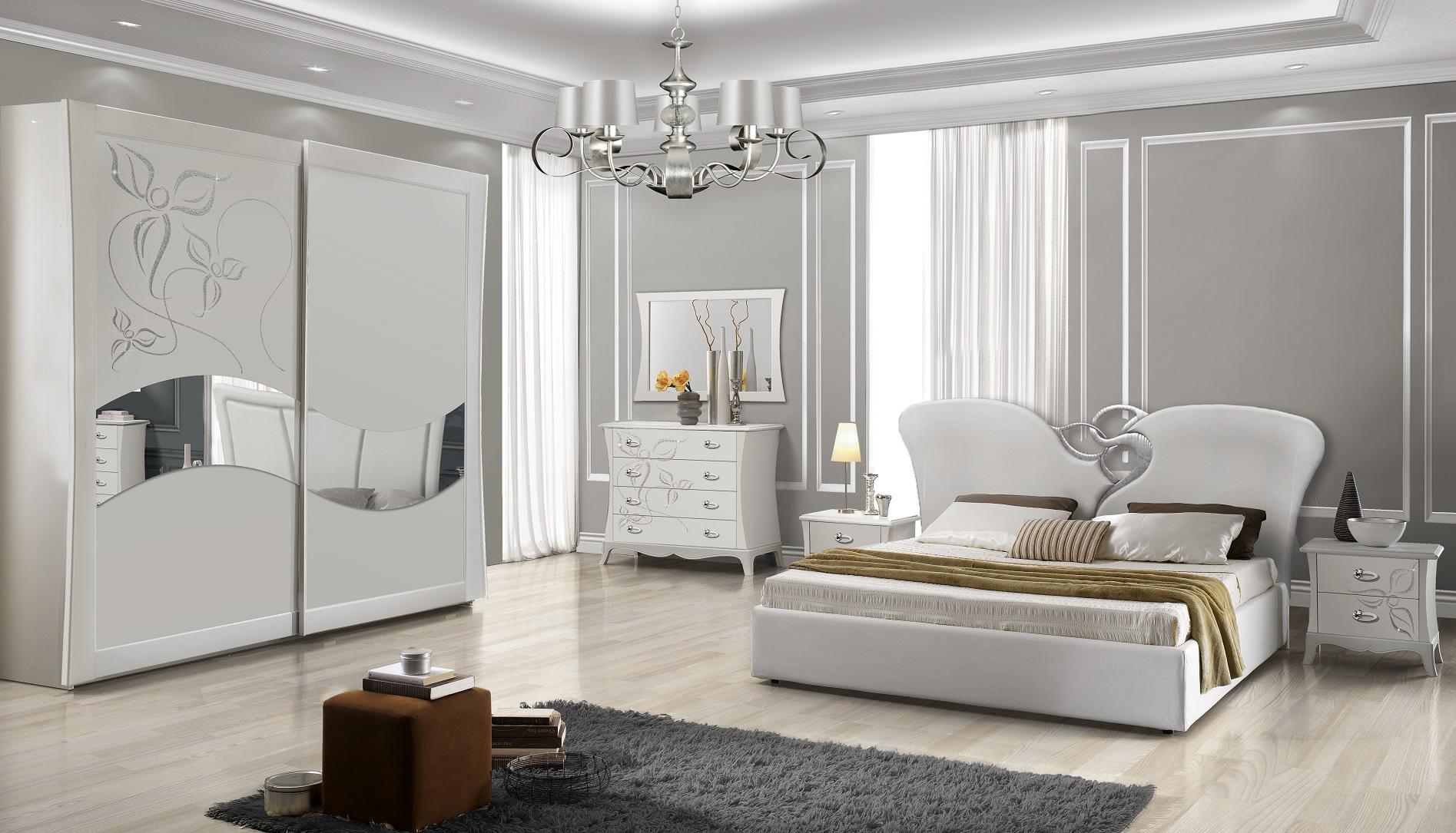 Bekannt Schlafzimmer Set mit 180x200 cm Bett in Weiß Luxus Design - Kaufen ET97
