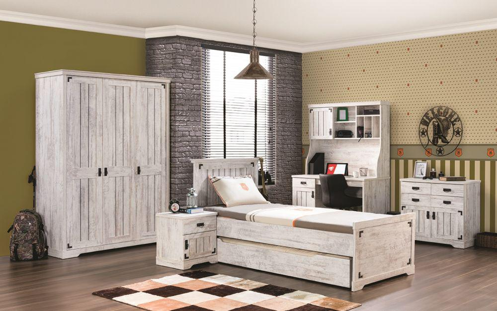 kinderzimmer woodlife in weiss im landhausstil 6tlg. Black Bedroom Furniture Sets. Home Design Ideas