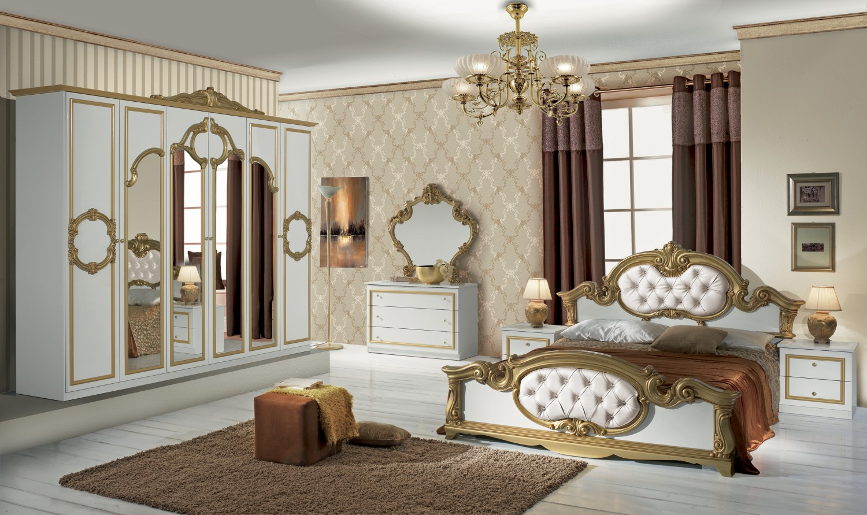 Wunderbar Schlafzimmer Barocco In Weiss Gold Barock Design 1 ...