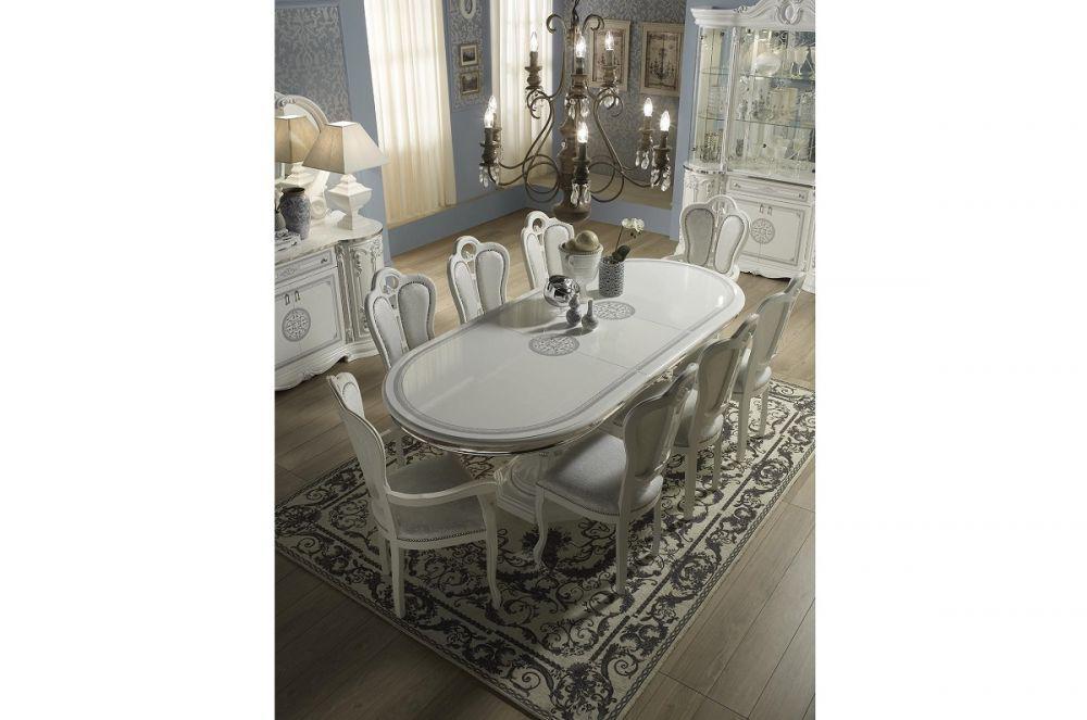 esstisch ausziehbar great klassisch italienisch weiss. Black Bedroom Furniture Sets. Home Design Ideas