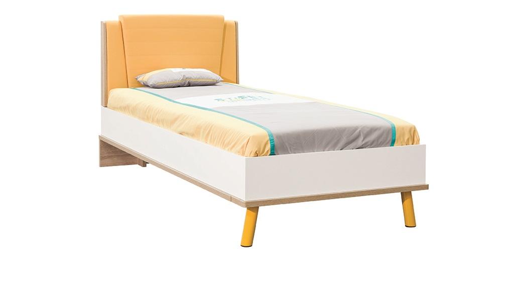 Bett 90x200 Cm Street In Gelb Weiss Holzoptik Kaufen Bei Kapa Mobel