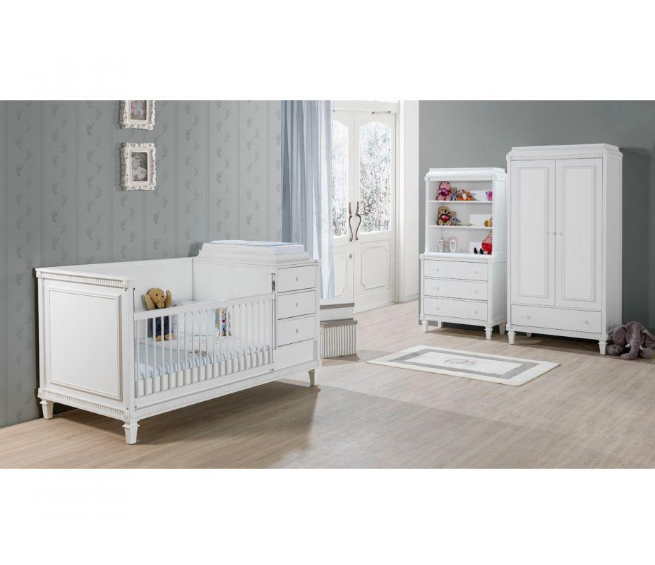 bett hazeran 90x200 cm landhausstil weiss kinderbett. Black Bedroom Furniture Sets. Home Design Ideas