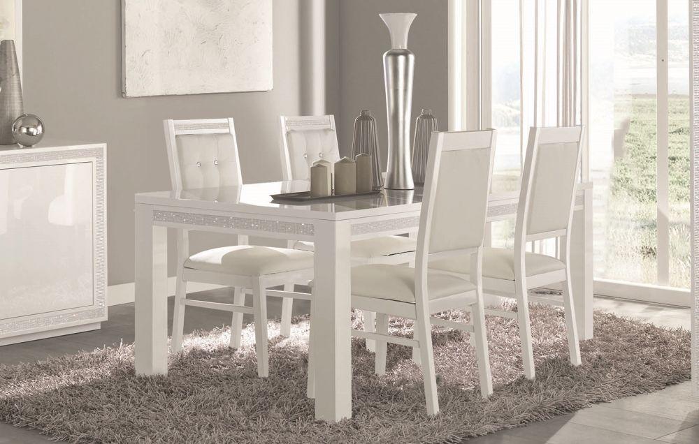 Esszimmer weiß  Stuhl Christal in weiss Hochglanz für Esszimmer - Kaufen bei KAPA ...