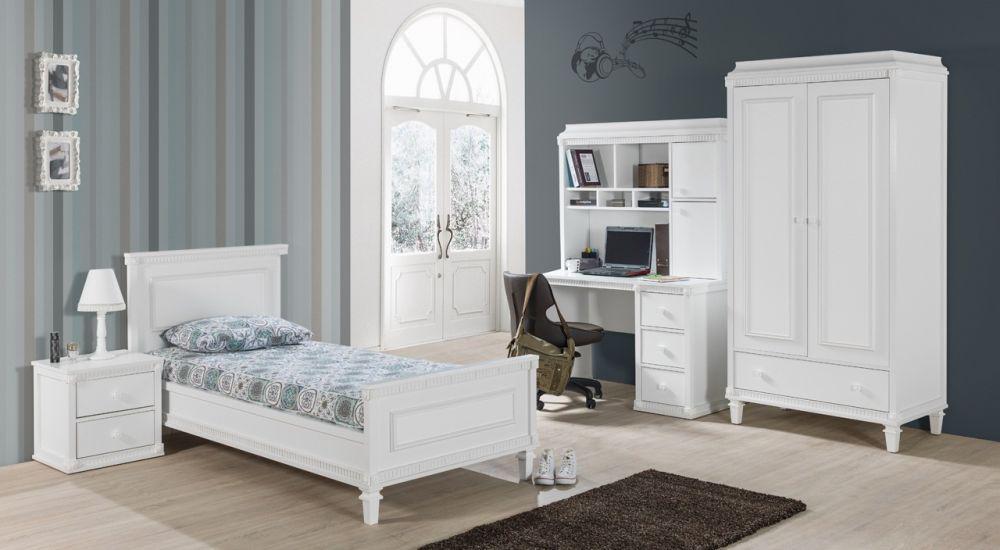 bett hazeran 120x200 cm landhausstil weiss kinderbett. Black Bedroom Furniture Sets. Home Design Ideas
