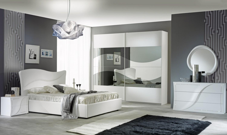 Schlafzimmer Set Aurora in Weiß Modern Design - Kaufen bei KAPA Möbel
