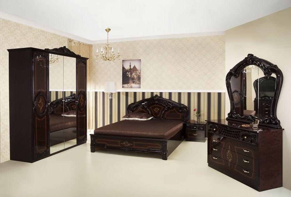 schlafzimmer rozza mahagoni klassisch 160x200 cm barock kaufen bei kapa m bel. Black Bedroom Furniture Sets. Home Design Ideas