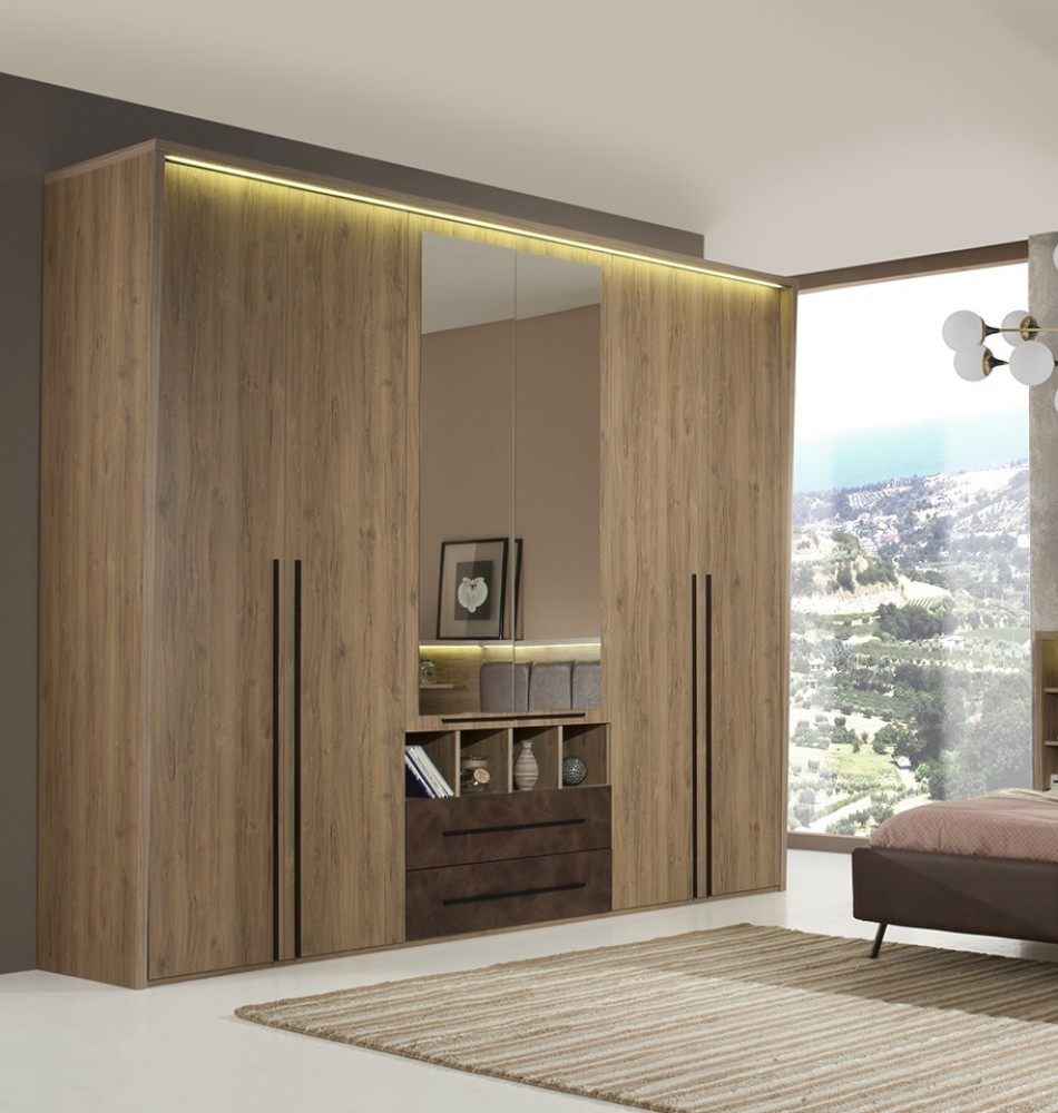 Endearing Kleiderschrank Design Best Choice Of Eden 6 Türig In Braun Modern 1