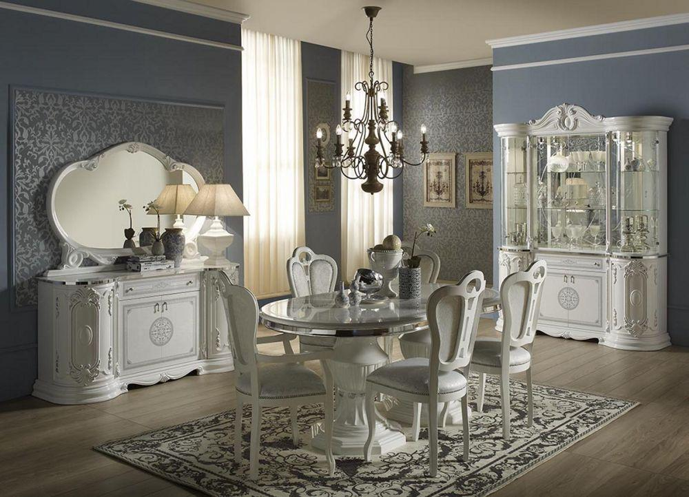 ... Kleiderschrank 4 Trg Great Weiss Silber Italienisch Klassisch De 3 ...