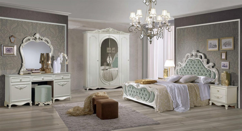 GroBartig Schlafzimmer Set Atene In Creme Vintage Grün Im Königlichen Stil 1 ...