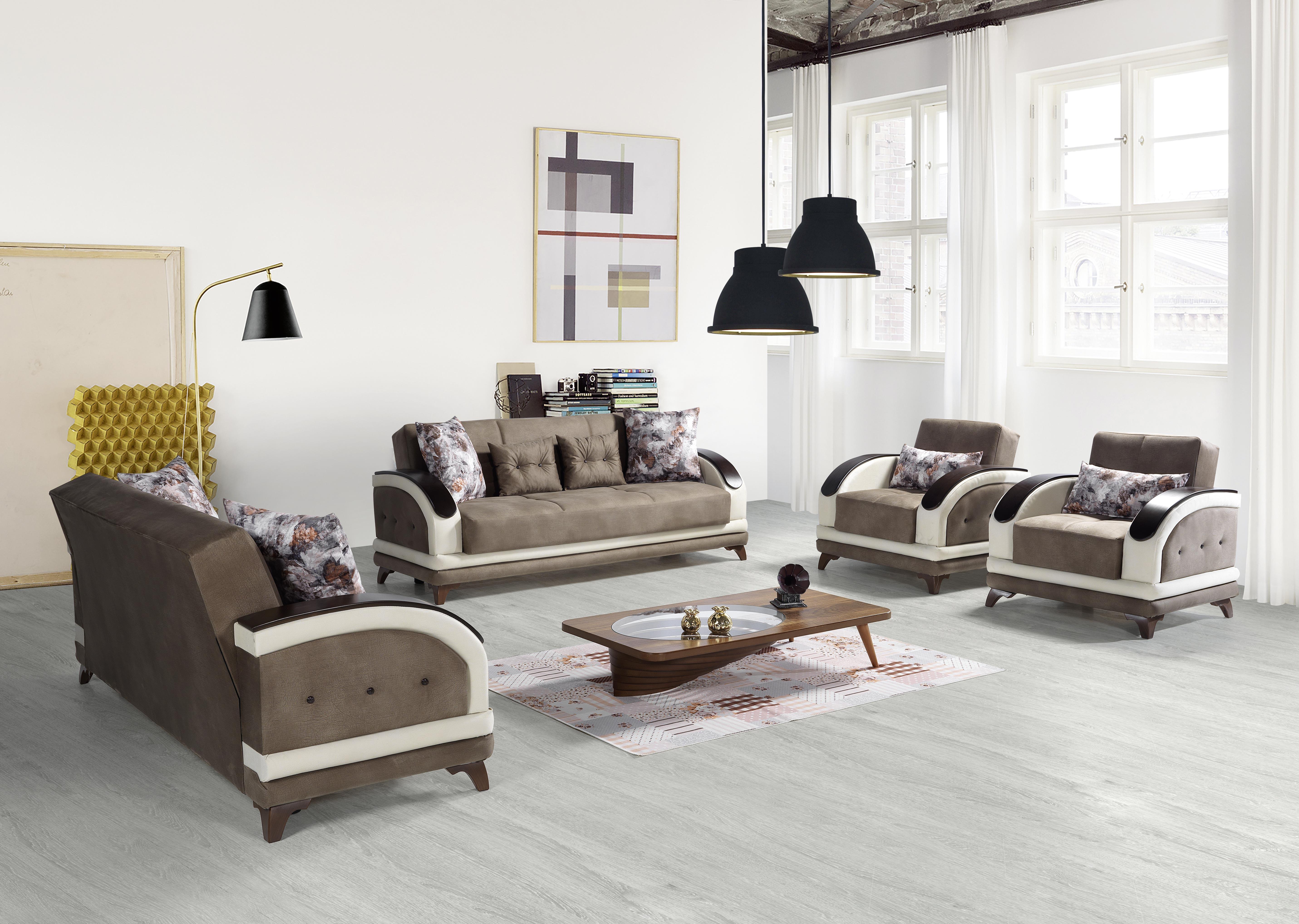 Sofa Couch Set Asos 321 In Braun Mit Schlaffunktion Kaufen Bei