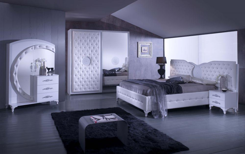 Schlafzimmer Anatalia In Weiss Silber Modern 1 ...