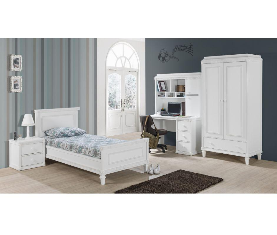 bett hazeran 90x200 cm landhausstil weiss kinderbett kaufen bei kapa m bel. Black Bedroom Furniture Sets. Home Design Ideas