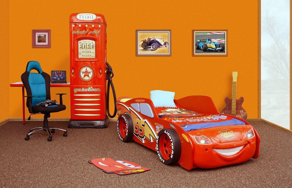 Bett Autobett Cars Mc Queen Kinderbett Cars rot mit LED - Kaufen ...