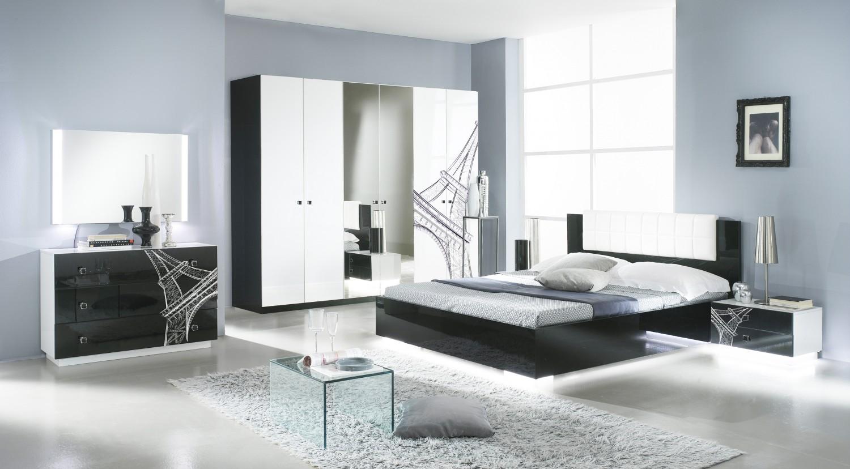 Uberlegen Schlafzimmer VIVIENNE In Schwarz Weiß Modern Design 1 ...
